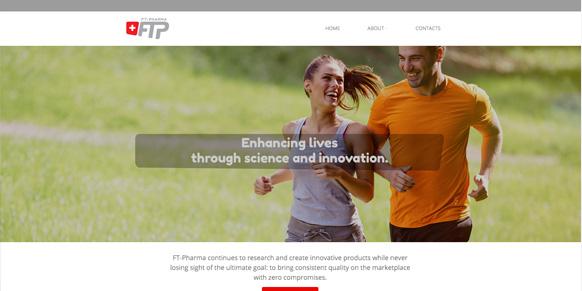 prima pagina del sito ft pharma